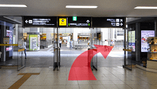 大阪上本町駅からの道のり